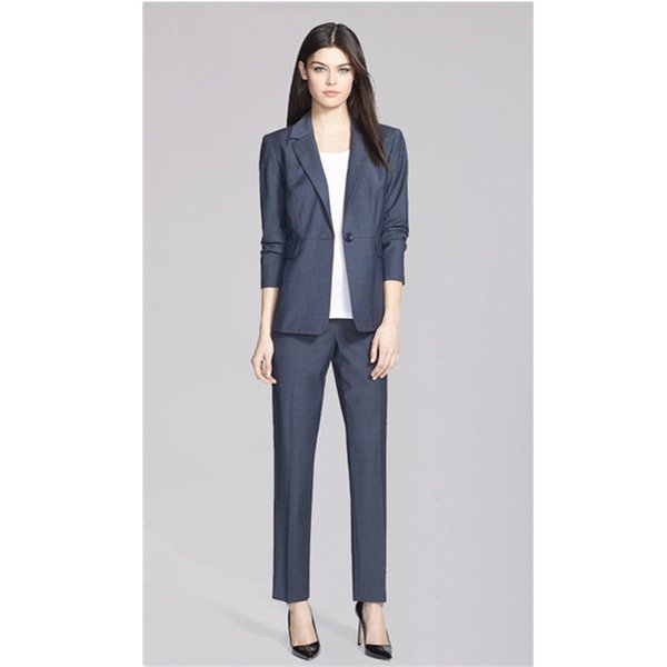 New Real Full New Arrival 2 Pieces Set Female Fashion Outwear Jacket Pants Custom Made Comfortable Elegant Women Business Suit