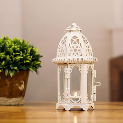 New Arrival White Black Morocco Iron Lantern Candle Holder For Wedding Favors Gift Home Decorations Supplies