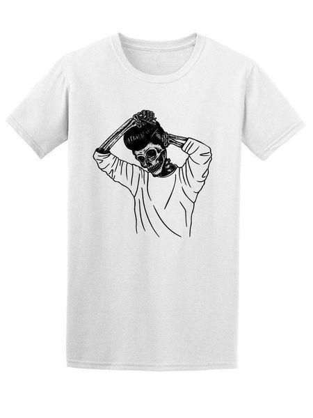 Grease Skull Combing Hair Men's Tee Print T Shirt Summer Style Hot 100% Cotton Fashion T-Shirts top tee