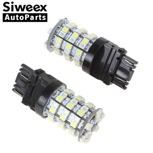 top popular New 3157 7443 1157 (Yellow   White) Dual Color 3528 Chip 60 SMD LED Tail Brake Stop Light Turn Signal Switchback Unique Bulbs 12V 2019