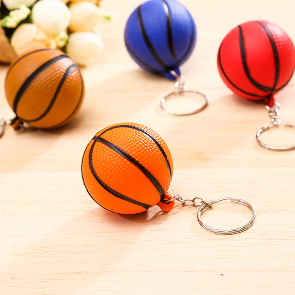 New Fashion Sports metal Keychain Car Key Chain Keychains Plastic Key Ring Football Basketball Golf ball Pendant Keyring For wholesale