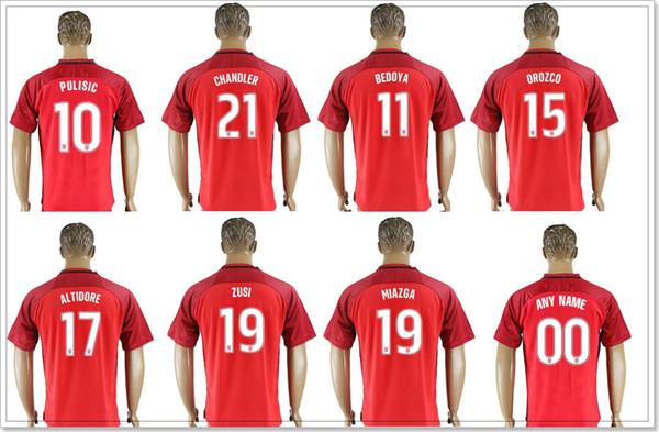 f3292c41a USA team  10 Christian Pulisic  22 13 Jermaine Jones 15 Michael Orozco 21  Timothy Chandler Mens Soccer Uniforms Shirts Sports Jerseys Custom