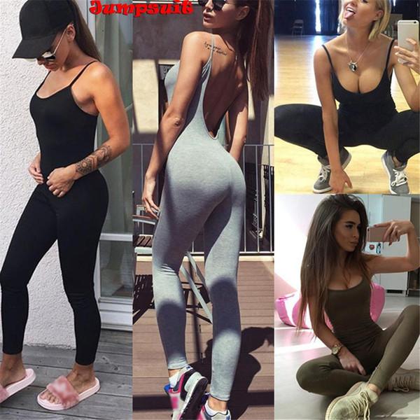 One-pieces sexy yoga set roupas de fitness mulheres sports suit set treino ginásio de fitness macacão calças sem encosto sportswear s3