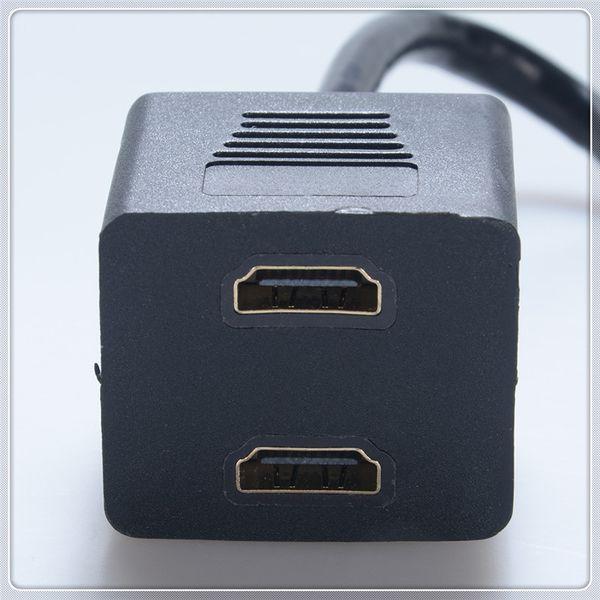 Cavo splitter HDMI (da 1 a 2) Cavo splitter premium da maschio a femmina Colore Nero Vendita calda