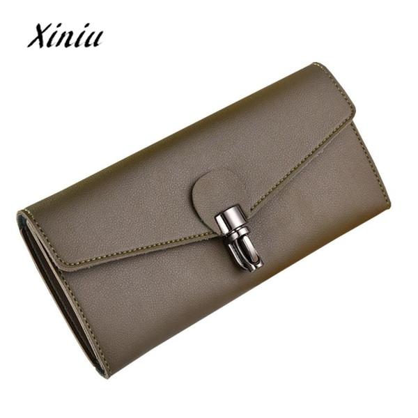 Gros-Nouvelle arrivée femmes portefeuille grande capacité en cuir embrayage chéquier porte-cartes porte-monnaie sac à main pour les femmes