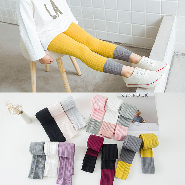 Fashion Spring Autumn Children Candy colors Tights Baby Girls Princess Mixed color Cotton Leggings 1-8 years pants Kids Clothing C4404