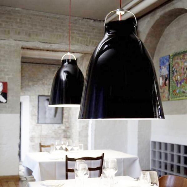 Modern Pendant Light Aluminum Painting Lamp Hanging Light E27 Holder Lampada Big Bell For Restaurant home garden coffee room