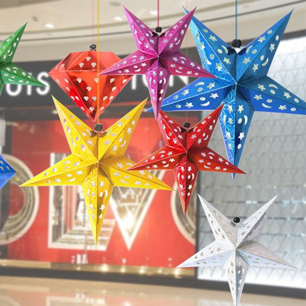 1 Pc Romantic Xmas String Hanging Charm Star Party Decoration Christmas Tree For Table Top Ornament Home Decorative #30