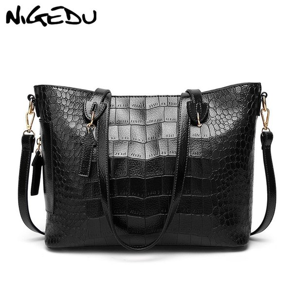 Fashion Crocodile women shoulder bags large capacity messenge bag brand luxury design handbag Ladies big Totes Office bag bolsa