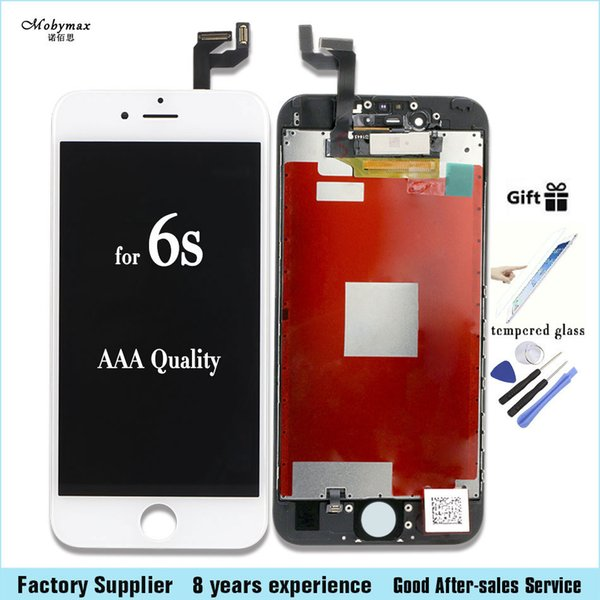 wholesale 100% Test Work Touch Screen for iPhone 4s 5 5s 6 6s LCD Display Complete Replacement factory big promotion+Tempered film