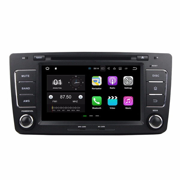 "2 din 8"" Android 7.1 Car Radio GPS Multimedia Head Unit Car DVD for Skoda Octavia 2012 With 2GB RAM Bluetooth WIFI Mirror-link USB DVR"