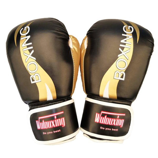factory handmade luxury gold color boxing glove for fighter kicking training professional boxing gear for mma