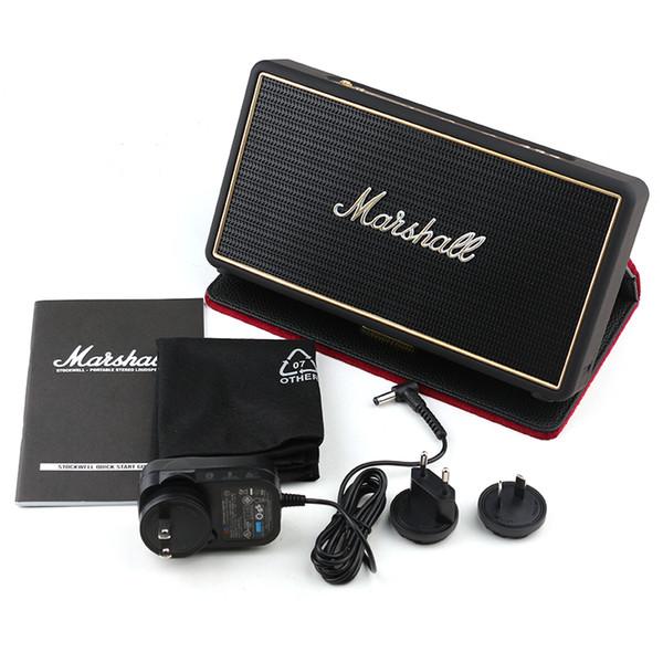 Marshall Stockwell Bluetooth Lautsprecher Hohe Qualität Rock-Lautsprecher mit Flip-Cover Retail Box Kostenlose Wireless-Lautsprecher mit Flip DHL-Versand