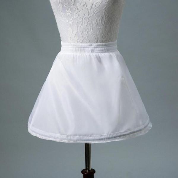 No Hoop White Tutu Skirt For Flower Girl Dresses Kids Short Petticoat Child Short Crinoline Petticoats Girls Underskirt CPA1193