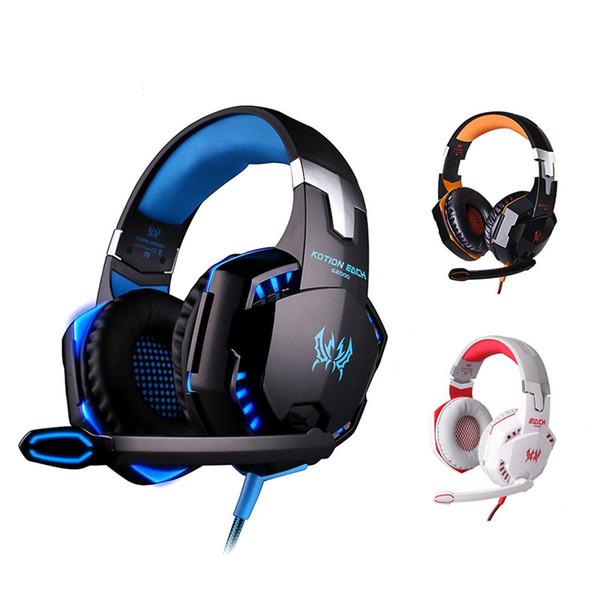 PC Gaming Headset Wired Over-Ear Game наушники оголовье наушники с 3,5 мм аудио и микрофон Jack стерео бас светодиодные для ПК PS4 Xbox One
