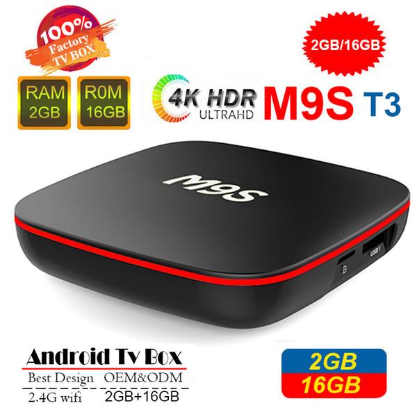 М9 Т3 Allwinner Н3 1г 8г 2 ГБ 16 ГБ Android-ТВ коробка 7.1 четырехъядерный Ультра HD-видео H. 265 4K поток медиа-плеер лучше, встроенный S905W TX3 X96 мини-X92
