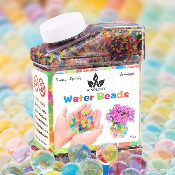 Water Beads Crystal Soil Mud 9oz Over 30,000 Water Gel Beads Pearls Vase Filler Wedding Centerpiece Home Decoration Plants Toys