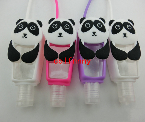 100pcs/lot 30ml Cute Creative Cartoon Animal Bath Body Works Silicone Portable hand soap Hand Sanitizer Holder With Empty Bottle