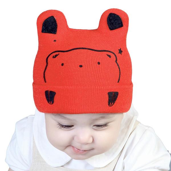 Infant Kintting Hats Baby Girls Boys Bear Caps Kids Baby Bear Ear Baseball Cap Cartoon Baby Boy Hats Toddler Accessories