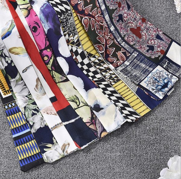 16 colors Cheap Professional Free Shipping Scarf printed Scarves Imitated Silk Satin Scarves Flower Painting Women Scarves Wrap Long Scarf