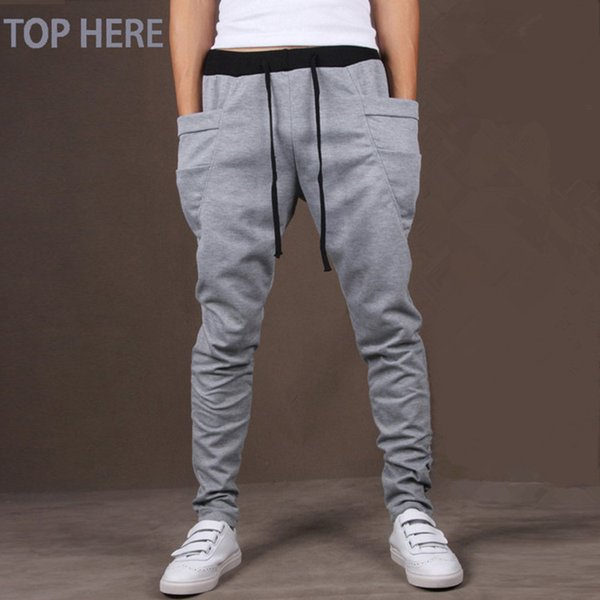2018 Nuevos Hombres Pantalones Harem Venta Caliente Outwear Sweatpants Hombres Casual Joggers Hip Hip Pants Chándal Pantalones 8 colores Mens Joggers