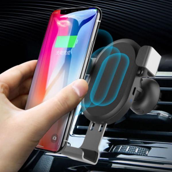 10W caricabatterie da auto ricarica veloce wireless air vent telefono supporto mount qc per iphone 8 x xr xs max samsung s8 s9 plus