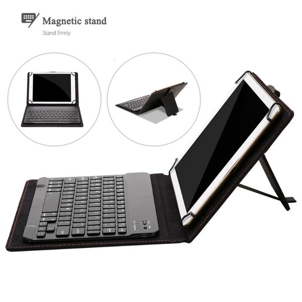 Newest Black Separable Bluetooth Keyboard + Leather Protective Case with USB Charging Cable For 8-8.9/ 9-10.1 inch Tablet