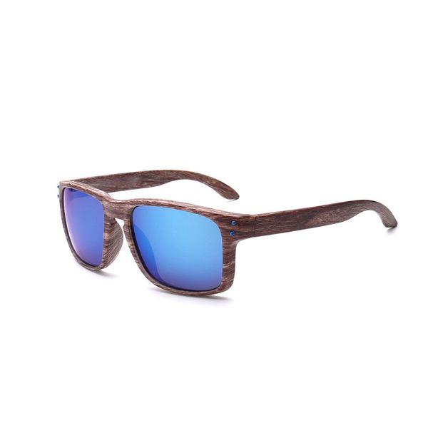 2018 New Sunglasses Men Women Sports Eyewear Rivets Wood Grain Fashion Vintage Sunglasses Goggles Outdoor driving UV400