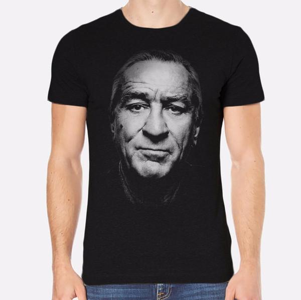 T Shirts 2018 Fashion Office Robert De Niro New Men T-Shirt Black Clothing O-Neck Short-Sleeve Mens Tee