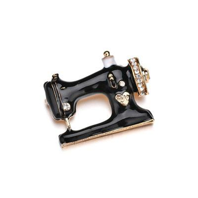 fc524d223 2018 New Original Retro Exquisite Fashion Crown Drip Brooch Sewing Machine  Chest Pin Europe And The United States Explosion Models