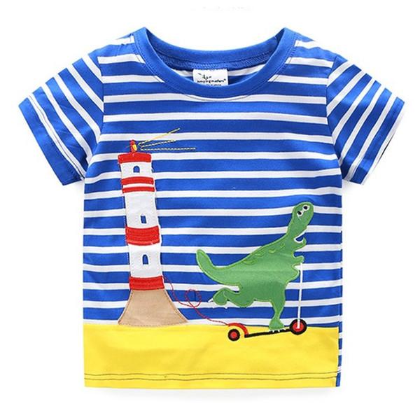 cad987d9c22a Boy T-Shirt 2018 New Summer Baby Boys Tops Animal Appliques Tops Short  Sleeves Children