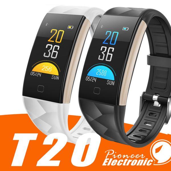 T20 Fitness Tracker Smart Armband Armband Herzfrequenz Blutdruckmessgerät IP67 Wasserdicht Anruf Erinnern Sport Schrittzähler für Android Ios