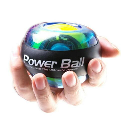 Grip arm force wrist ball self-starting luminous super gyro No Power Light Wrist Ball Arm Exerciser Strengthener LED with Speed Device