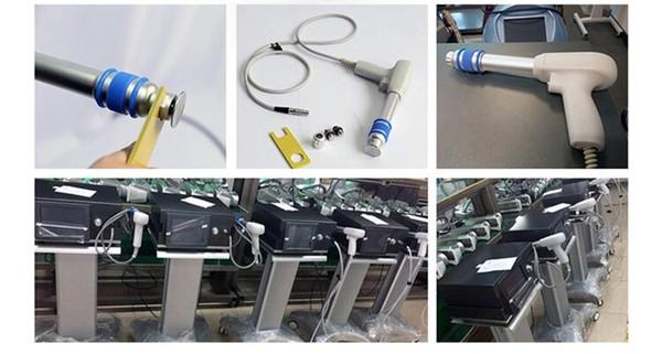 Yüksekliği 6BAR ESWT ekstrakorporeal şok dalga tedavisi makinesi Şok Dalga Sağlık Ürün Makinesi Fizyoterapi Salon Ekipmanları