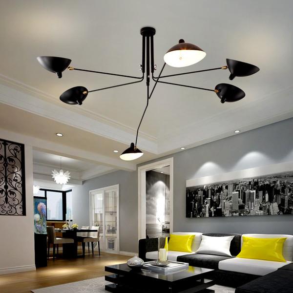 Großhandel Deckenleuchten Retro Industriedachboden Nordic Iron  Deckenleuchte Wohnzimmer Kreative Künstlerische Beleuchtung Von Alluring,  $259.29 Auf ...