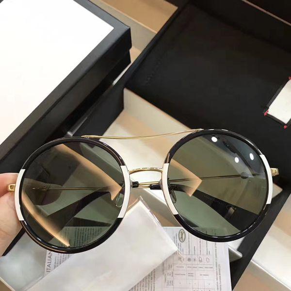 Gucci GG0061 Venta al por mayor - Lentes de sol de lujo para mujeres, hombres, puntos de diseño, gafas de sol, mujeres, hombres, mujeres, gafas de sol, gafas de sol de la vendimia