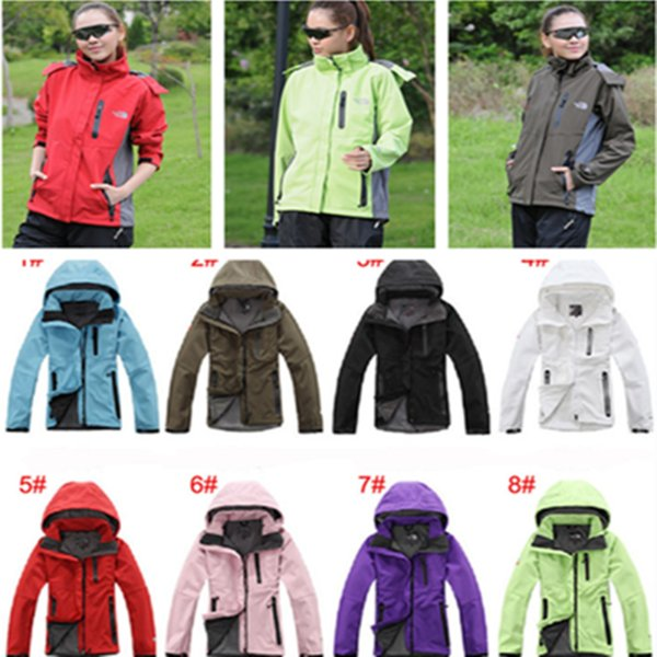 Marke NF Windjacke Frauen Nord Fleece Softshell Gesicht Winterjacke Mit Kapuze Windproof Wateproof Coat Full Zip Jacken Wandern Outdoor Tops