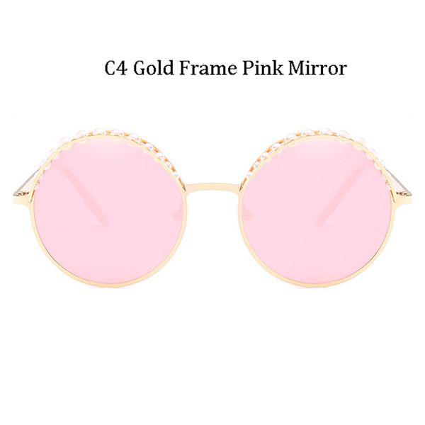 C4 Gold Frame Pink Mirror