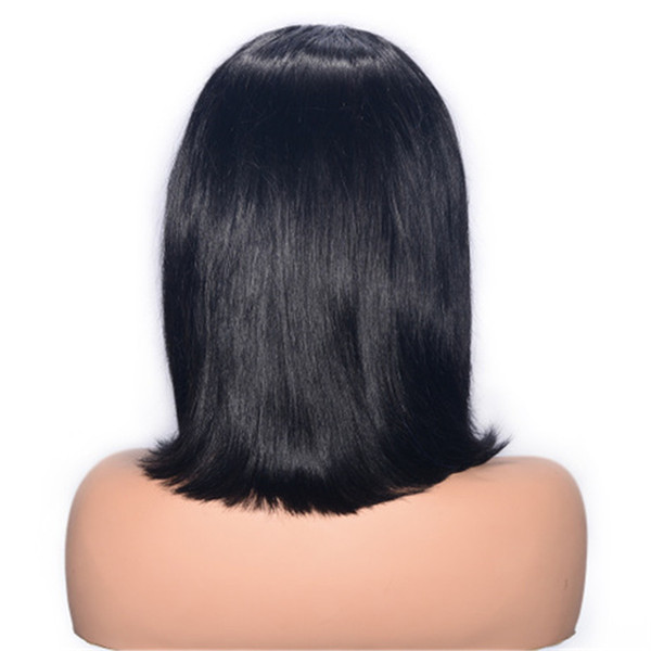 Malaysian Virgin Hair Lace Front Wigs with Baby Hair Pre Plucked Hairline Straight Full Lace Human Hair Wig for Women Ping