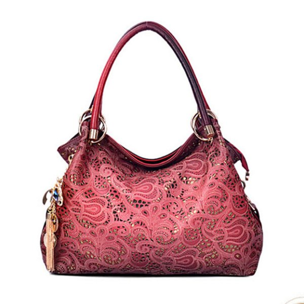 2018 Trend Single Shoulder Package Hollow Out Woman Package New Pattern Lady Carving Handbag Woman Oblique Satchel
