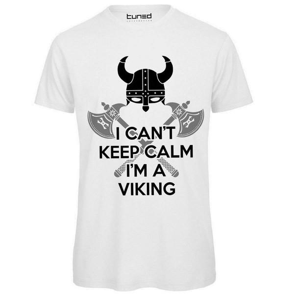 Maglietta Divertente Uomo T-Shirt Cotone Con Stampa Sakin ol Viking Tuned Kollu Tee Gömlek Homme T Gömlek Metin