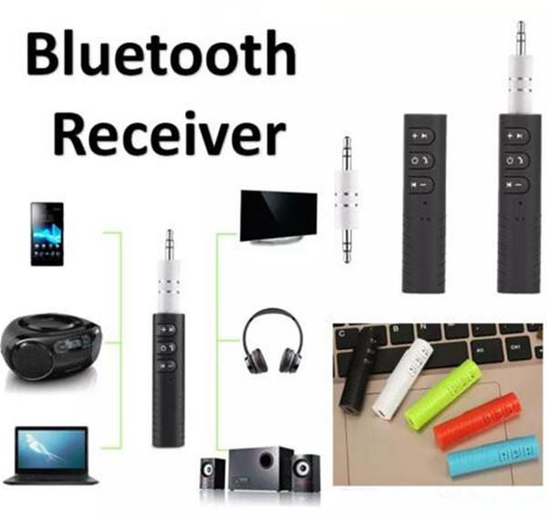 Klipsli Evrensel 3.5mm Bluetooth Araç Kiti A2DP Kablosuz Verici AUX Ses Müzik Alıcısı Adaptörü Telefon Için Mic ile Handsfree Jack