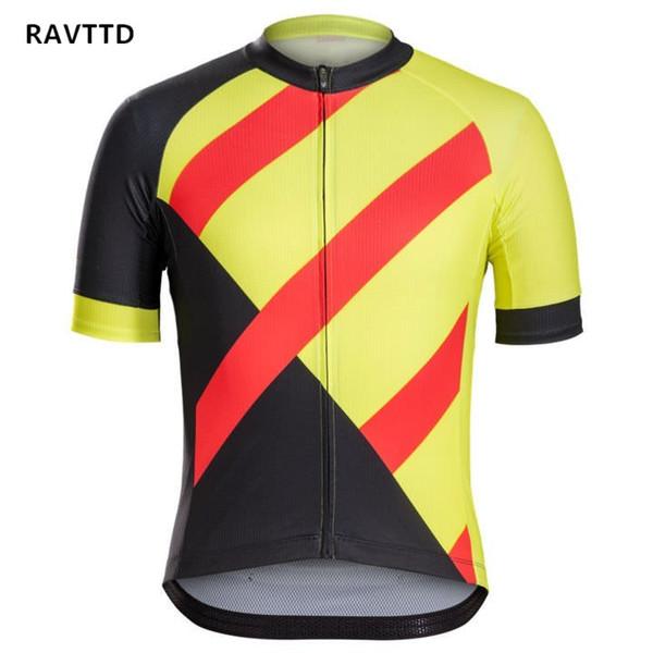 Preto amarelo cor vermelha de secagem rápida respirável camisa de ciclismo de manga curta camisa dos homens de verão desgaste da bicicleta de corrida tops bicicleta ciclismo clothing