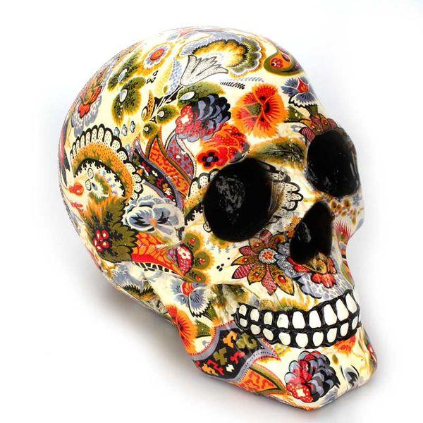 Couleur créative Imprimé Motif Ornements Crâne Résine Masque Bureau Accueil Bar Table Grade Artisanat Décoration Art Squelette Ornement