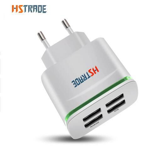 HSTRADE USB Smart Charger 4 Porte Adattatore multiplo a parete Dispositivo mobile 5V 4A Carica universale Ricarica per iPhone HUAWEI