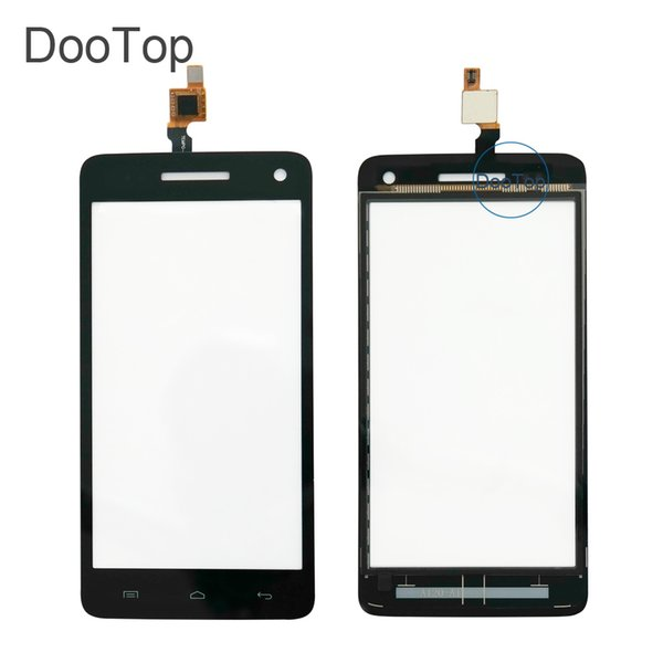 High Quality For Explay Fresh Capacitive Touch screen Digitizer front glass replacement TouchScreen Black color with 3m sticker