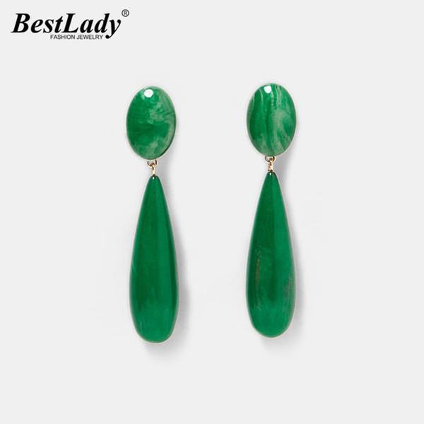 Лучший леди зеленый цвет специальный дизайн падение мотаться серьги для женщин богемной девушка Подарки круглый кулон заявление ювелирные изделия горячие
