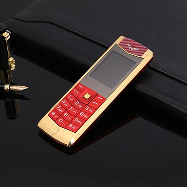 High quality Unlocked super luxury mobile phone for man Dual sim card fashion metal frame stainless steel cheap MP3 camera cell phone