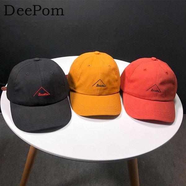 Deepom Baseball Cap Hommes Snapback Caps Femmes Marque Chapeaux Pour Hommes Os Casquette Mâle Vintage Broderie De Mode Gorras Papa Chapeau Chapeau
