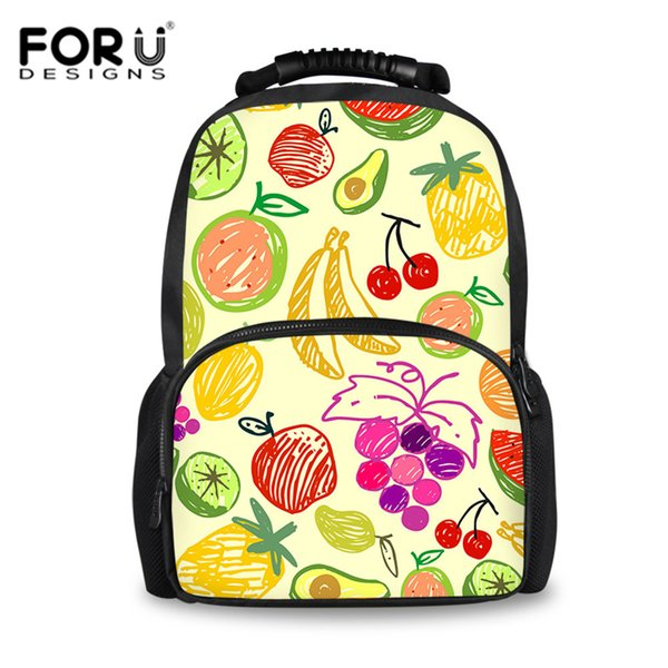 FORUDESIGNS Kids Schoolbags For Girls Fruit Orange Pattern Book Backpack For Teen Girls Boys Student Satchels School Bag